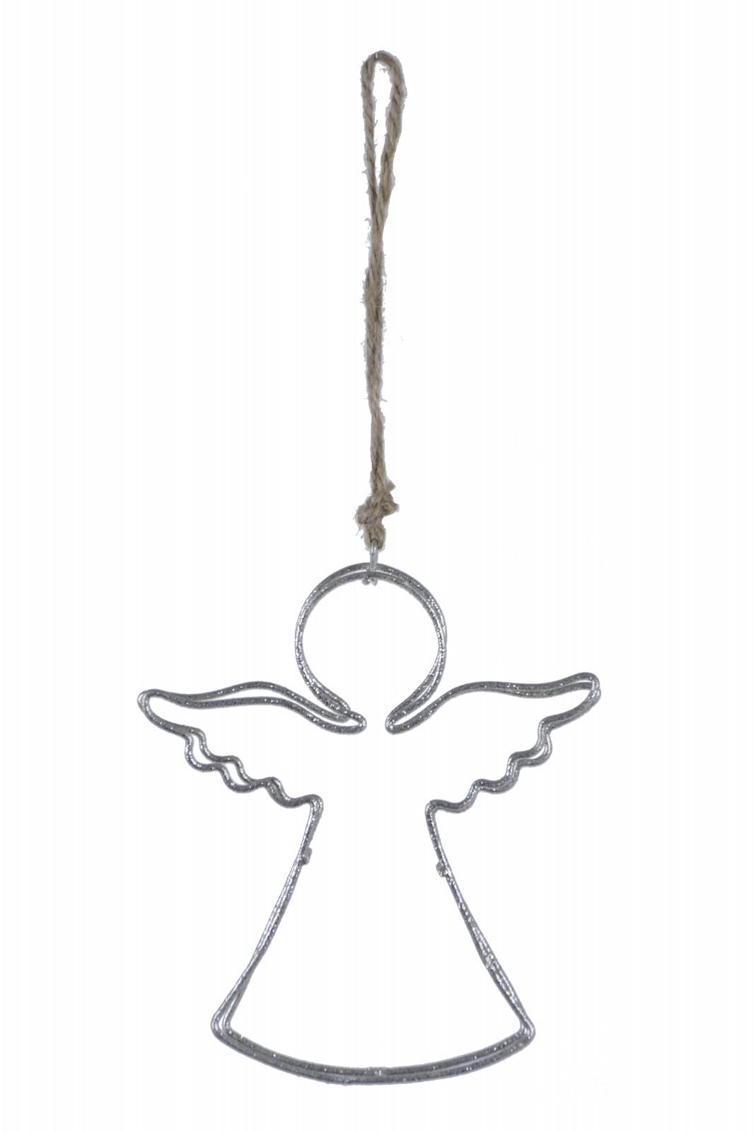 Drátěný anděl závěs