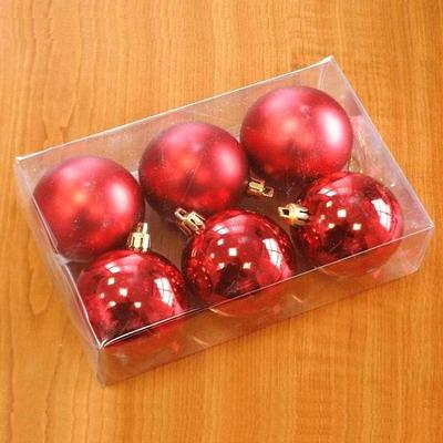 Vánoční ozdoba baňky 5cm set 6ks Barva: červená