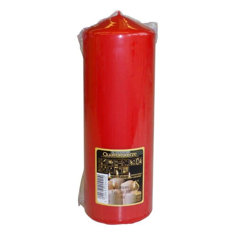 Svíčka válec 7x20cm Barva: červená