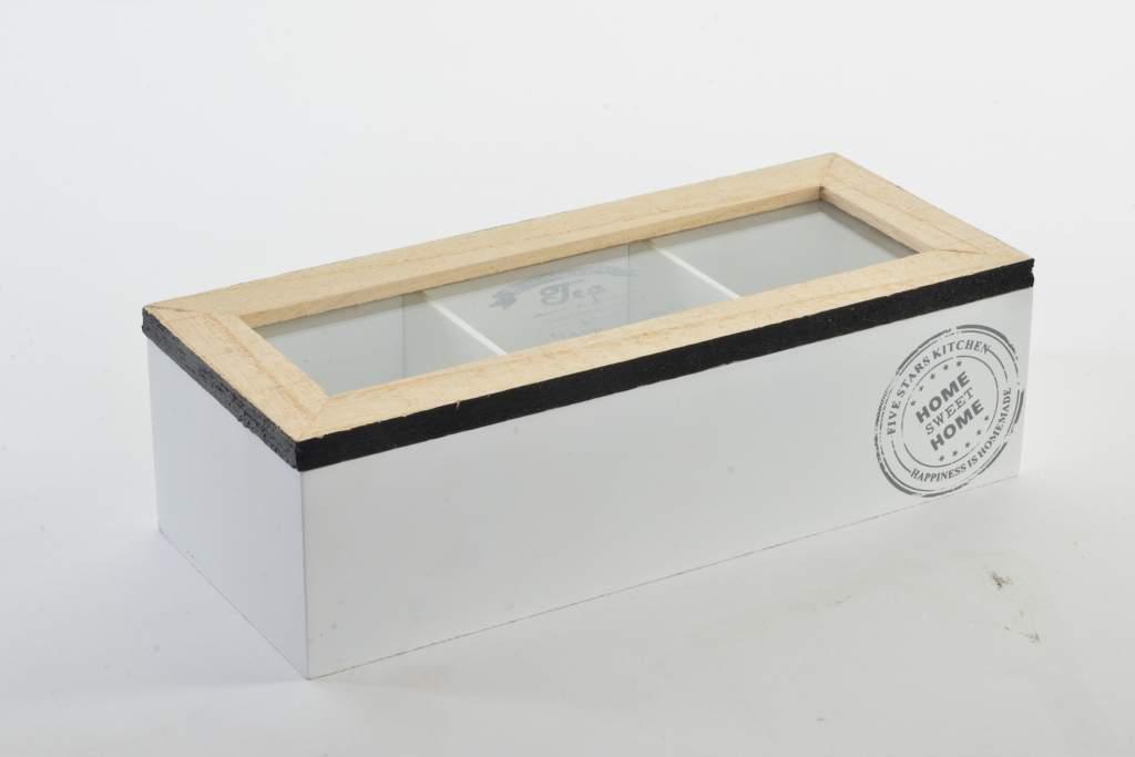 Krabička na čaj Home 24x10x7cm