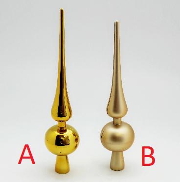 Vánoční špice zlatá 30cm Provedení: B