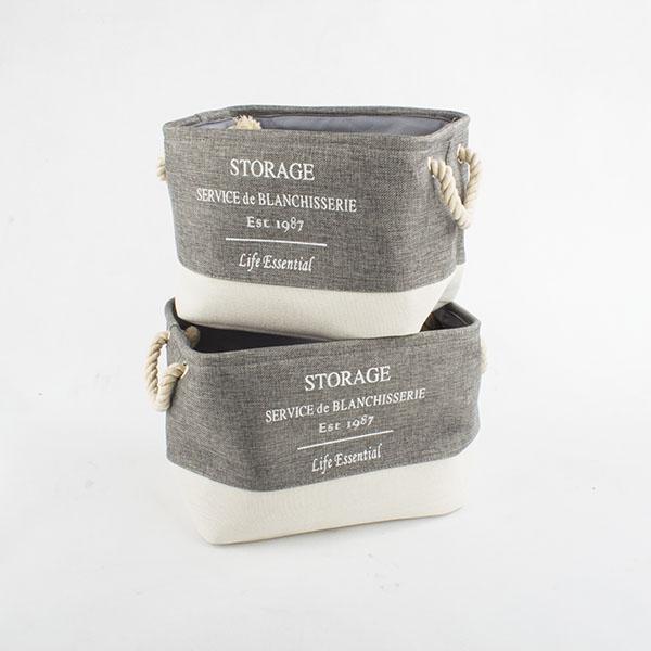 Casa de Engel Úložné textilní koše storage sada 2ks Barva: šedá