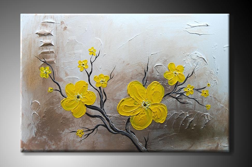 Obraz na plátně s žlutými květy Rozměry: 60x40cm