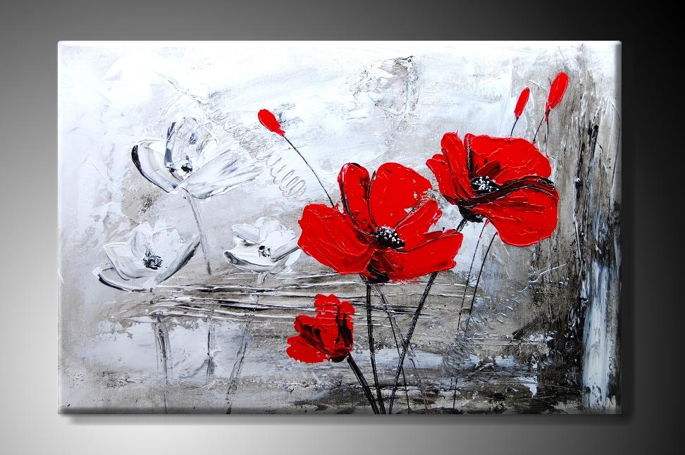 MO Ručně malovaný obraz vlčí máky Rozměry: 60x40cm