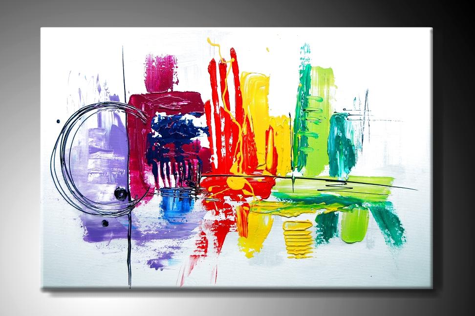 MO Ručně malovaný obraz barevná abstrakce Rozměry  60x40cm MODL011 60X40 db697f724b