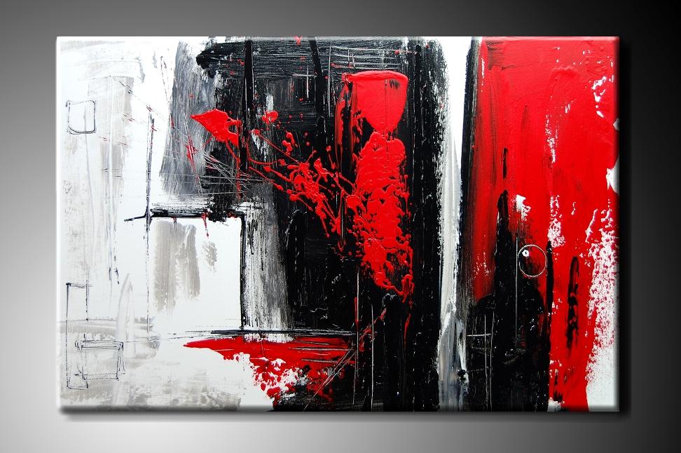 Obraz na plátně červenočerná abstrakce Rozměry: 60x40cm