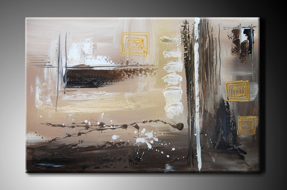 Obraz na plátně hnědá abstrakce Rozměry: 150x100cm