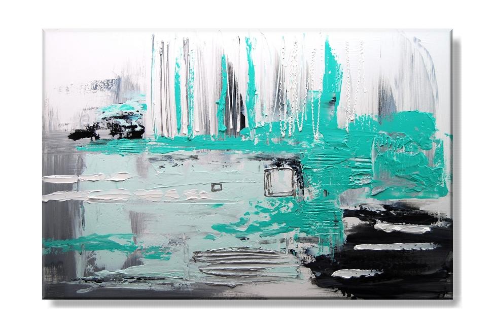 Obraz na plátně tyrkysová abstrakce Rozměry: 60x40cm