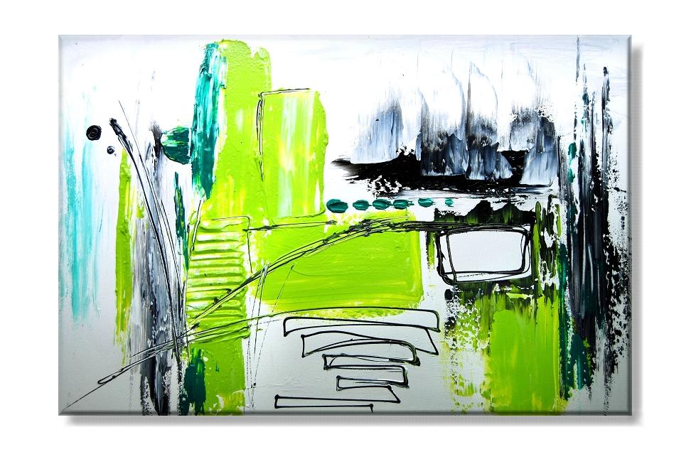 Obraz na plátně zelená abstrakce Rozměry: 60x40cm