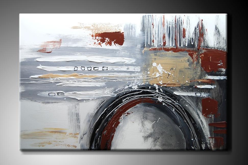 Obraz na plátně šedozelená abstrakce Rozměry: 60x40cm