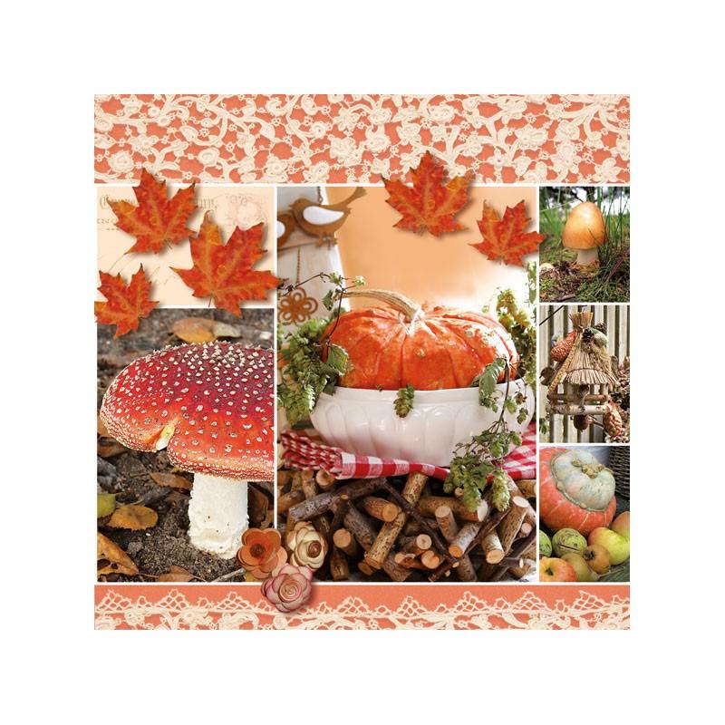 Ambiente Papírové ubrousky podzimní koláž balení 20ks