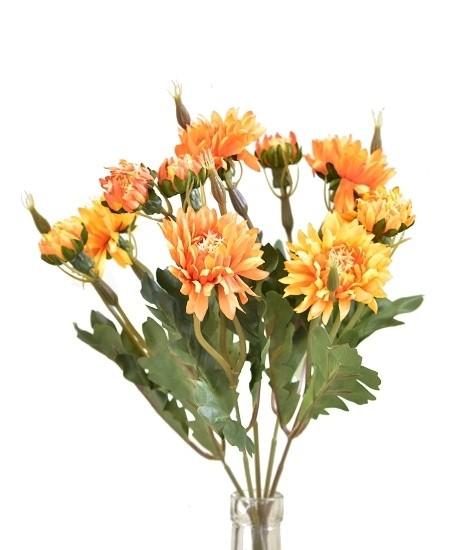 Kytice slaměnka 33cm Barva: oranžová