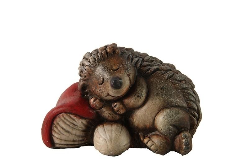 Ježek spící keramika Velikost: větší