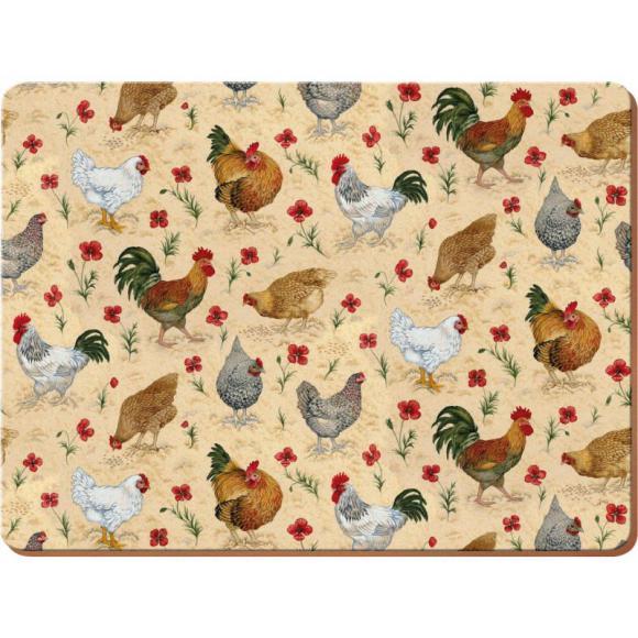 Creative Tops Korkové prostírání Chicken Rozměry: 21x29cm - 4ks