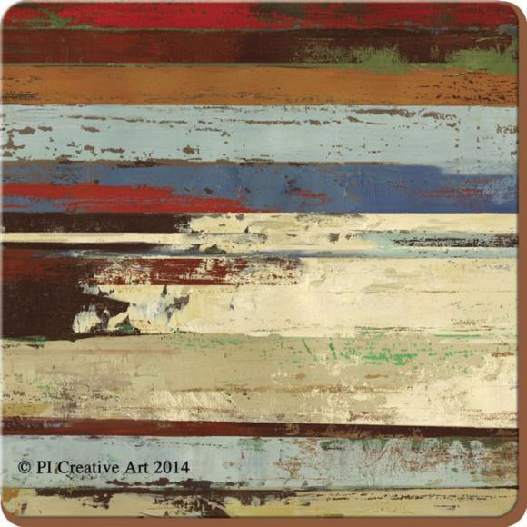 Creative Tops Korkové Prostírání Rustic Abstract Rozměry: 12x12cm - 4ks