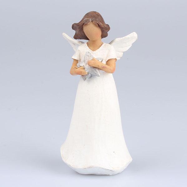 Anděl s hvězdičkou stojící 14cm