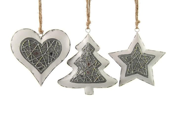 Harasim Vánoční dekorace kov S motivem: hvězda