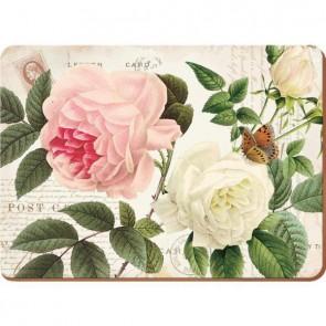 Creative Tops Korkové prostírání | Rose Garden Rozměry: 10x10cm - 4ks