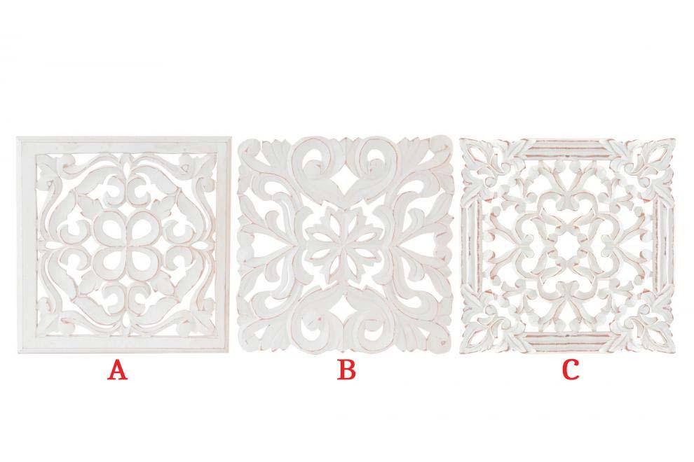 Mandala | Dřevěná dekorace | 30x30cm Provedení: A