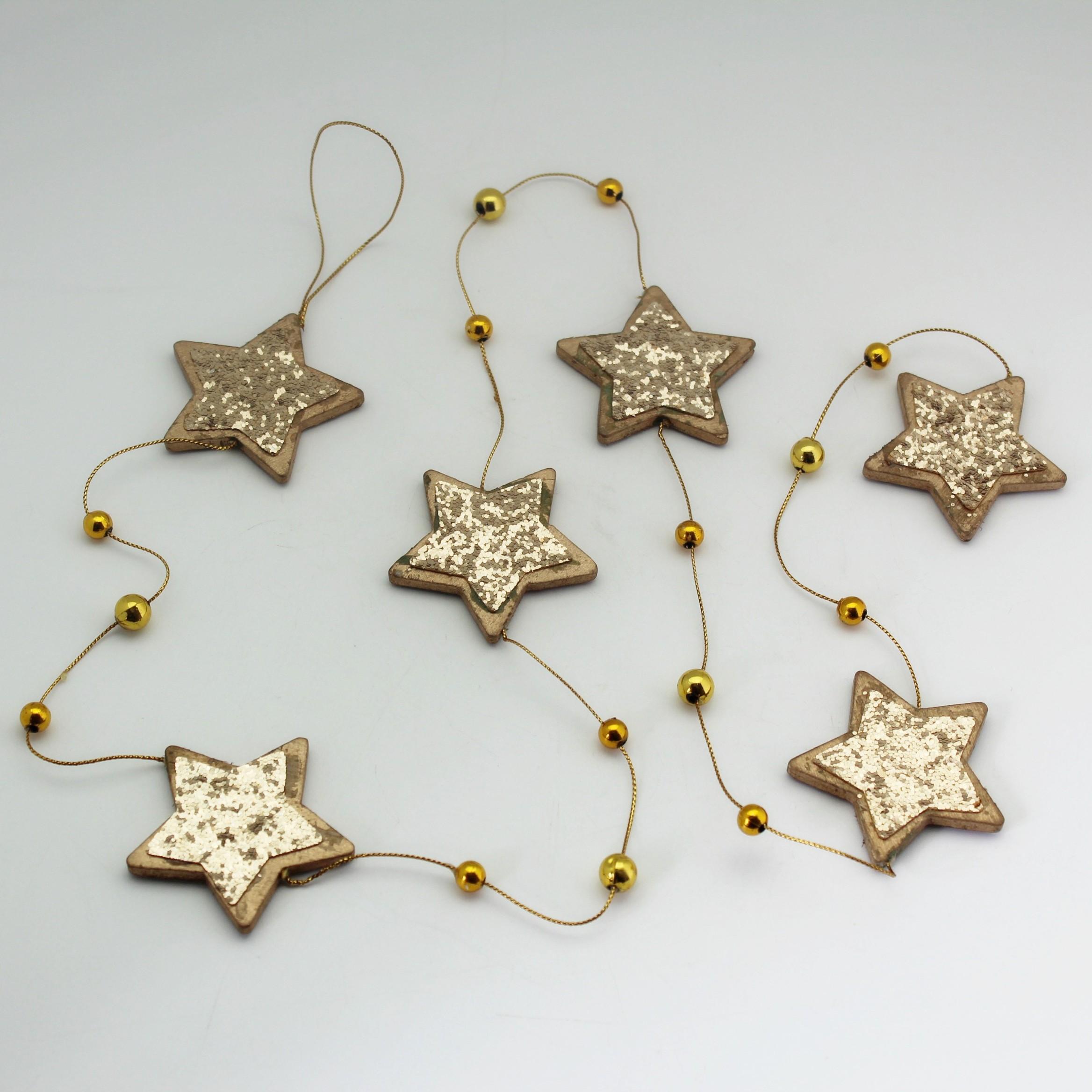 Girlanda vánoční hvězdy 140cm