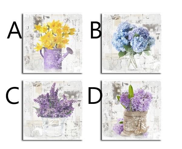 Obraz Flowers 28x28x2cm S motivem: B