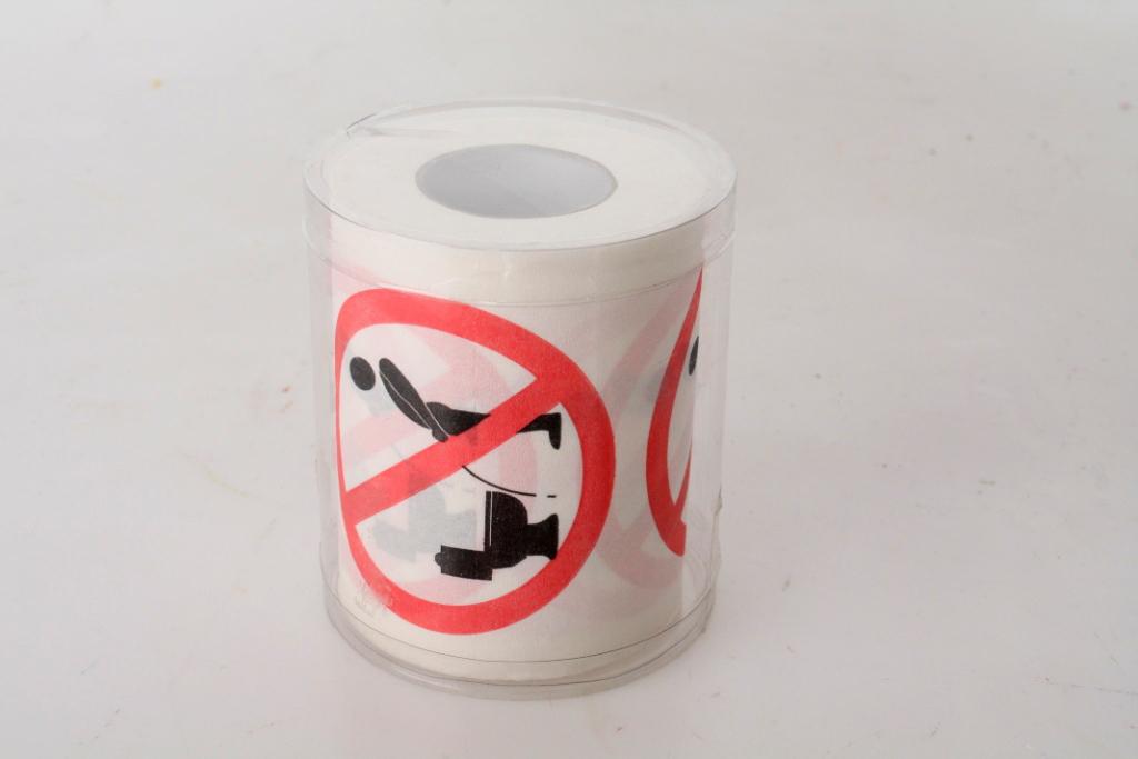 Toaletní papír Zákaz