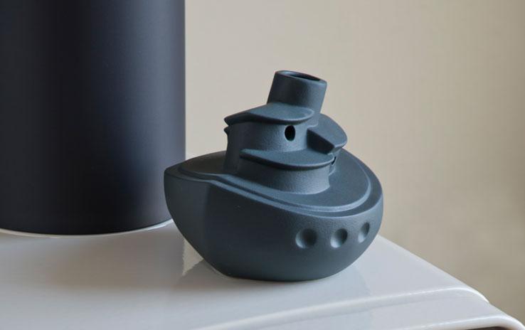 DENK Keramik Parní zvlhčovač loď antracit 16x14x13cm