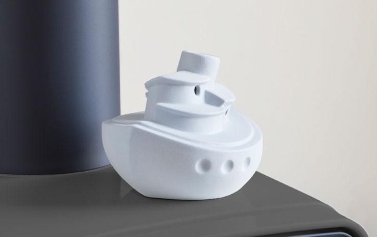 DENK Keramik Parní zvlhčovač loď šedý 16x14x13cm