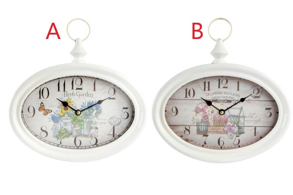 Kovové nástěnné hodiny Zahrada 28x25cm S motivem: A