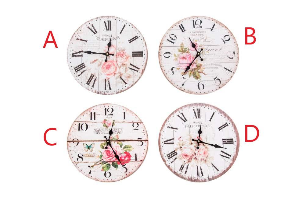 Nástěnné hodiny Růže 34x4cm S motivem: A