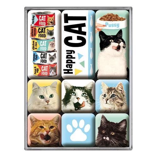 Nostalgic Art Magnetky na ledničku Happy Cat