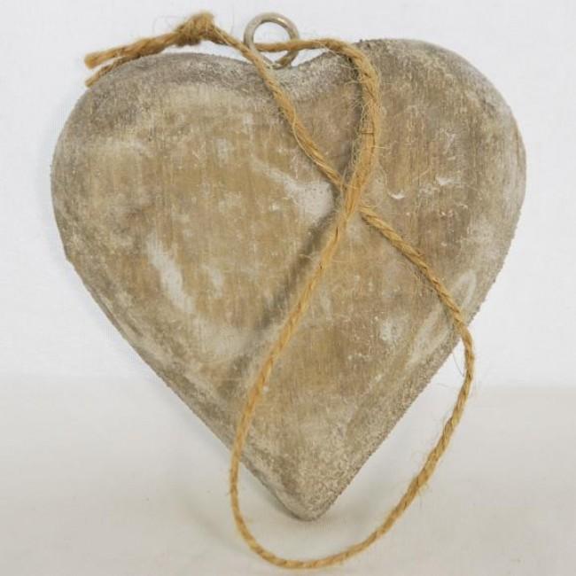 ID Dřevěné srdce | šedá patina Velikost: střední
