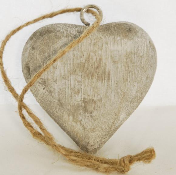 ID Dřevěné srdce | šedá patina Velikost: malé
