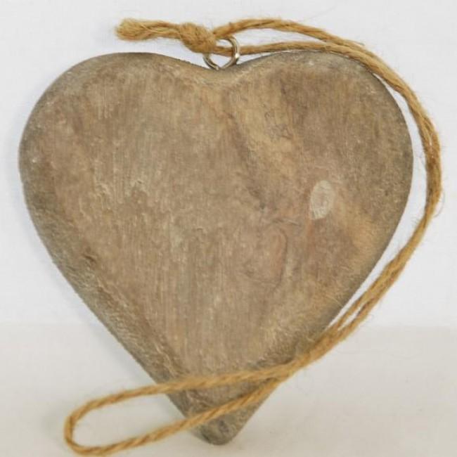 ID Dřevěné srdce | šedé Velikost: velké