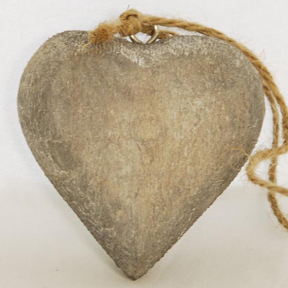 ID Dřevěné srdce | šedé Velikost: malé