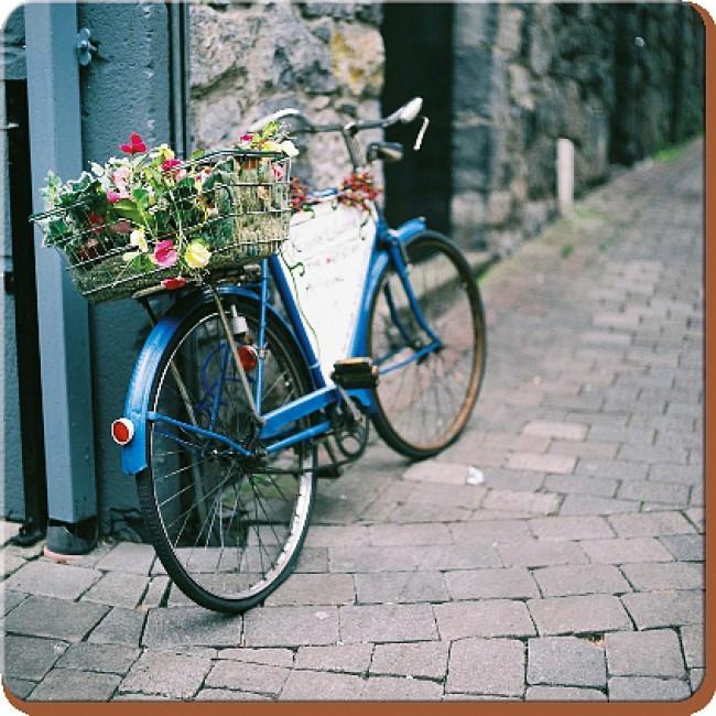 Creative Tops Korkové prostírání Vintage Bike Rozměry: 10x10cm - 6ks