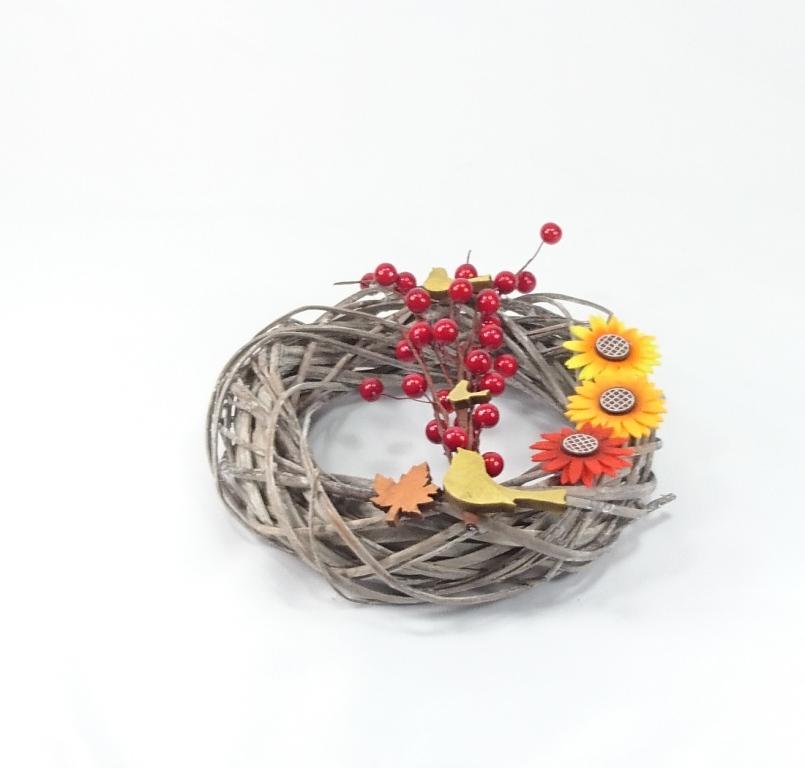 VESELÁ ŽENA Podzimní věnec dekorační 25x8cm