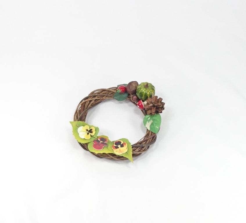 VESELÁ ŽENA Podzimní věnec dekorační 20x7cm