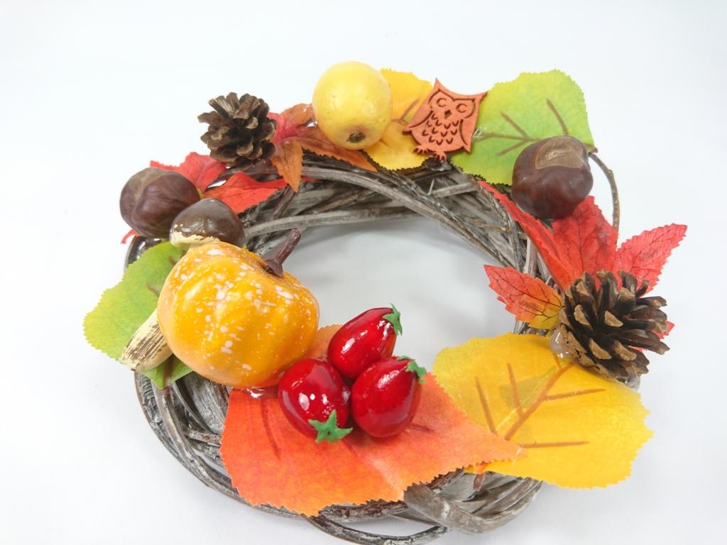 VESELÁ ŽENA Podzimní věnec dekorační 20x9cm