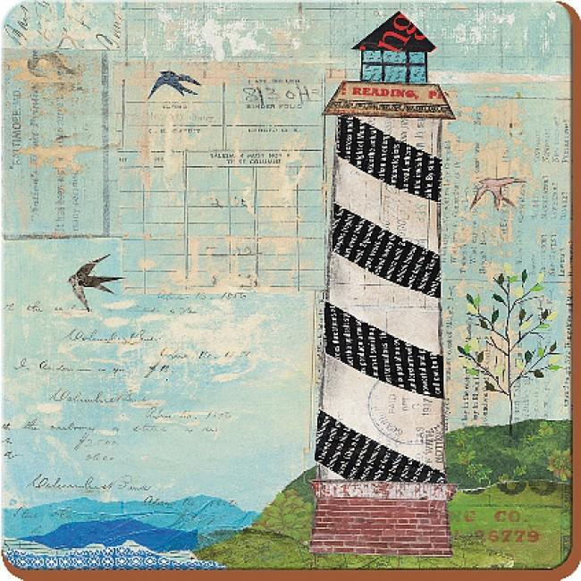 Creative Tops Korkové prostírání Sea View Rozměry: 10x10cm - 6ks