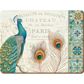 Creative Tops Korkové prostírání Peacock Rozměry: 21x29cm - 6ks