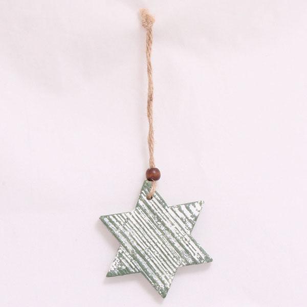 Hvězda pro závěs zelená 8x8cm