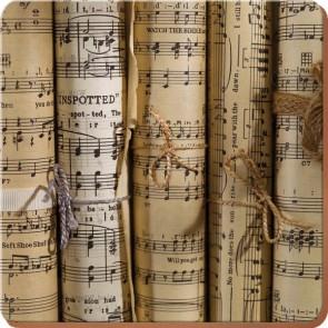 Creative Tops Korkové prostírání Music Notes Rozměry: 29x29cm - 4ks