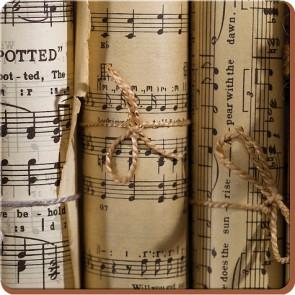 Creative Tops Korkové prostírání Music Notes Rozměry: 12x12cm - 4ks