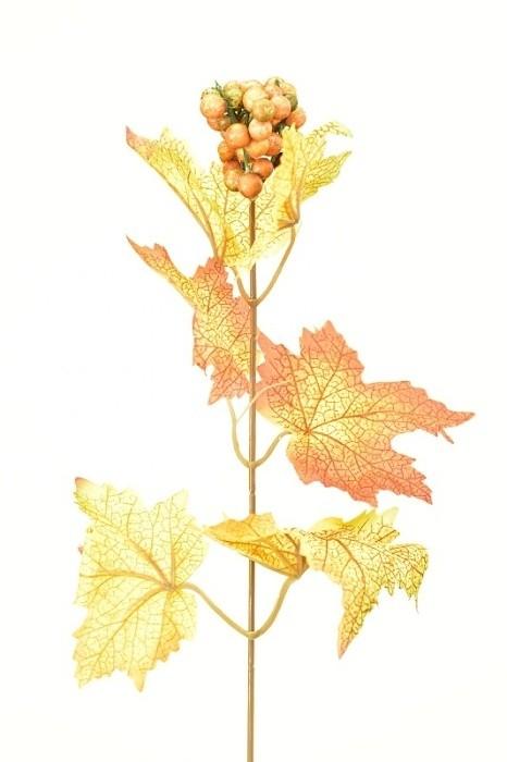 Podzimní větvička s bobulkami 37cm Barva: hnědá