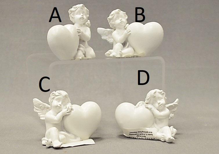 Figurka andílka se srdíčkem 5x6cm Provedení: A