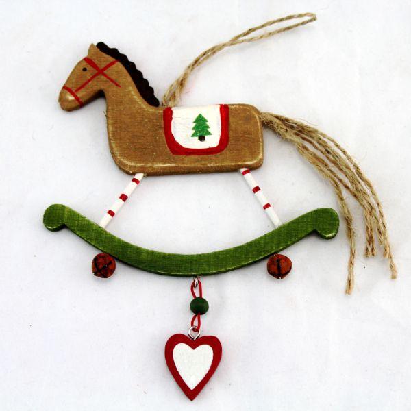 Vánoční ozdoba houpací kůň Barva: hnědá