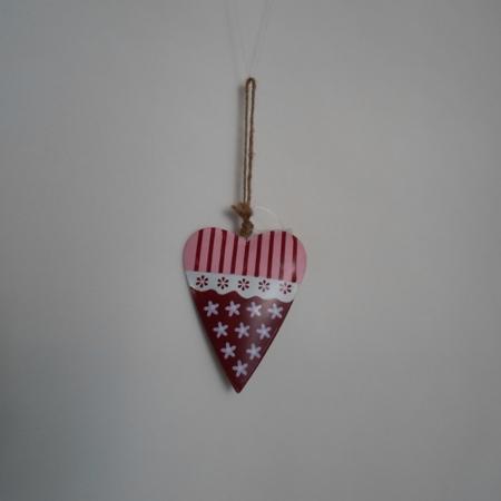 Srdce malované kovové Velikost: malé