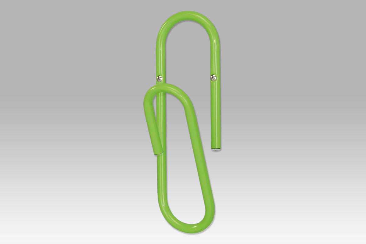 Nástěnný věšák sponka Barva: zelená