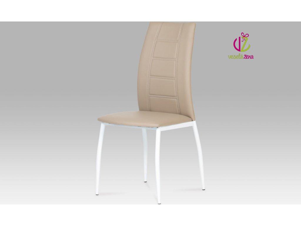 Artium Jídelní židle koženková 44x42x98x46cm Barva: cappuccino